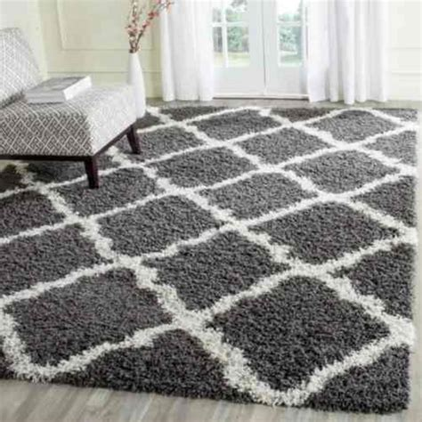 gray shag rug safavieh dallas shag gray ivory 8 ft x 10 ft area