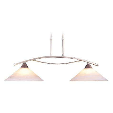 Led Island Lights Elk Lighting Elysburg Satin Nickel Led Island Light With Conical Shade 6501 2 Led