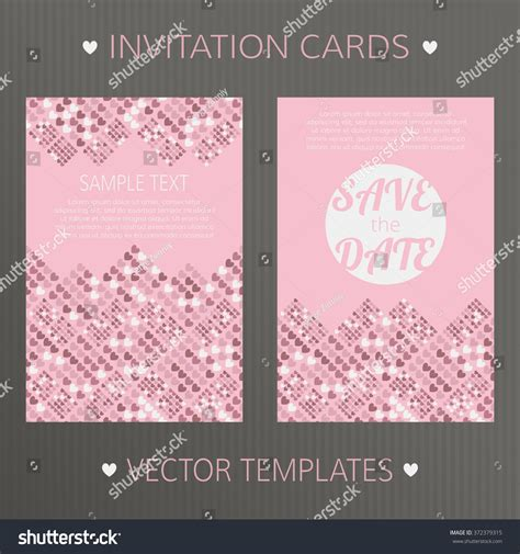 save the date birthday card template vector templates save date birthday wedding stock vector