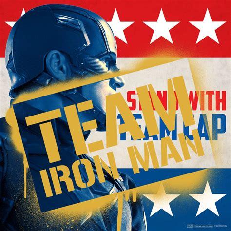 captain america civil war promo art pits cap iron man