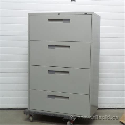 Global 4 Drawer Lateral File Cabinet Global Grey 4 Drawer Lateral File Cabinet Locking Allsold Ca Buy Sell Used Office