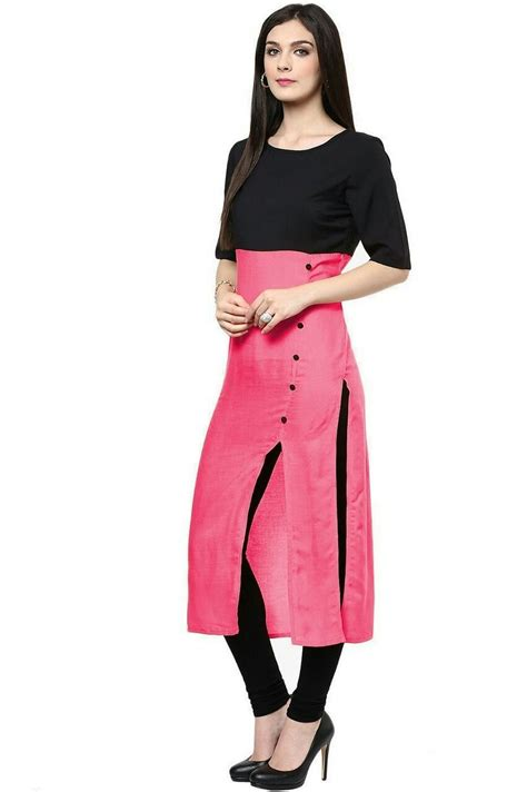 kurta colors vatsla enterprise women s cotton kurti vfbawester pink