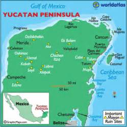 map of mexico yucatan region map of yucatan mexico maps yucatan peninsula facts landforms world atlas