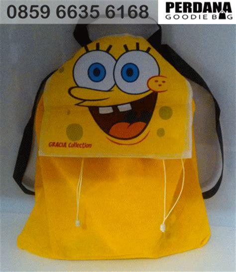 Name Tag Koper Tas Ransel Not Your Bag goodiebag ultah serut ransel spongebob goodie bag ultah anak