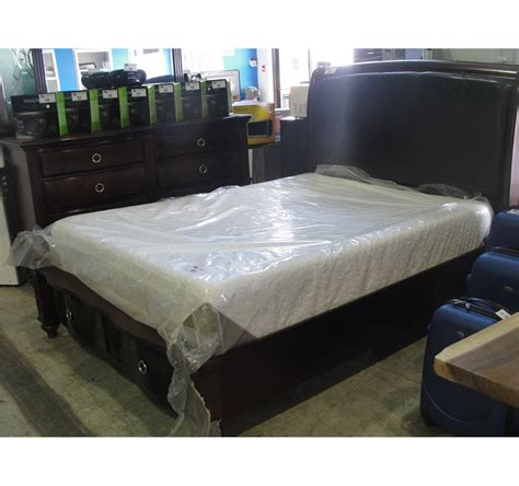 queen bed rails for headboard and footboard queen size headboard footboard and rails set with drawers