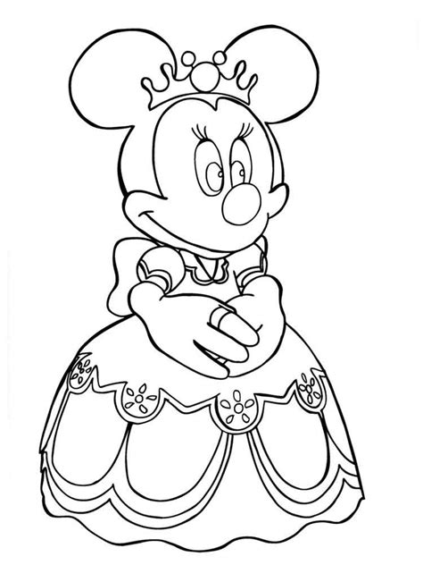 girl mouse coloring page disney minnie mouse coloring pages free printable disney