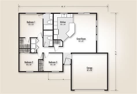 adair home floor plans the douglas 1192 home plan adair homes