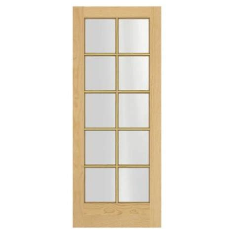 interior glass doors home depot jeld wen woodgrain 10 lite unfinished pine interior door