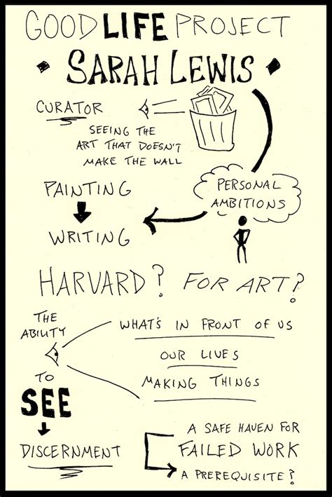 good biography ideas sketchnotes of sarah lewis good life project interview