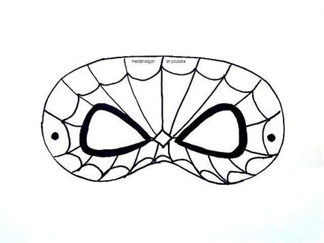 printable spider mask template 8 name paper crafts free printable spiderman mask