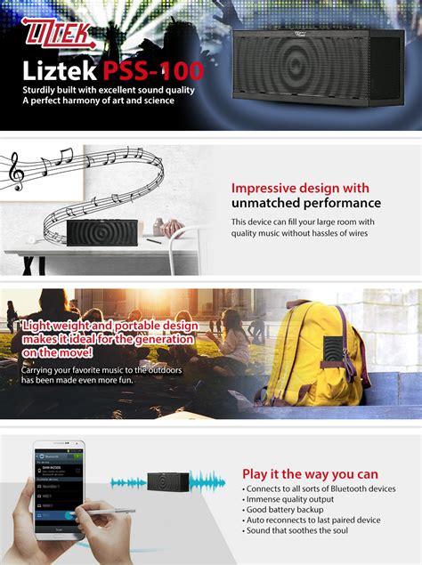 amazoncom liztek pss  portable wireless bluetooth