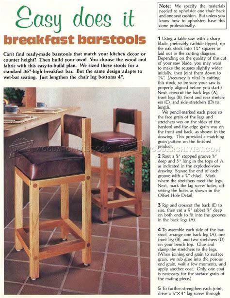 Bar Stool Plans Woodworking by Bar Stool Plans Woodarchivist