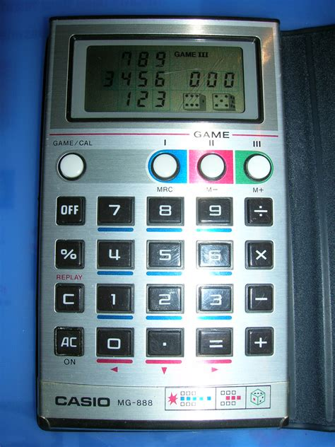 calculator the game handheld empire game casio game calculator mg 888