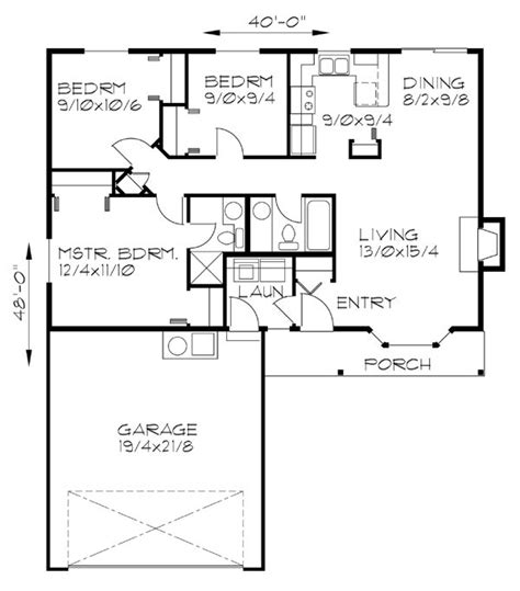 One Level 3 Bedroom 2 Bath 2 Car Garage Covered Porch House Plans 3 Bedroom 2 Bath Car Garage