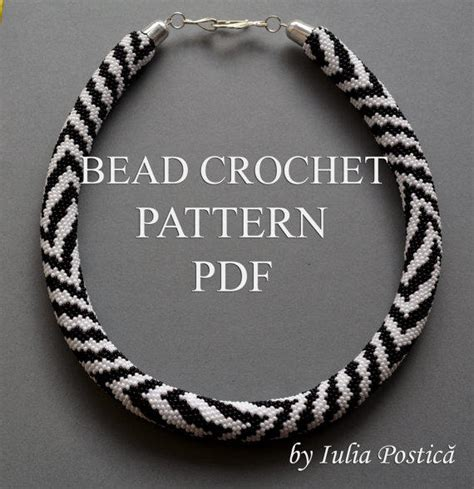 seed bead crochet patterns pattern for bead crochet necklace from beadedtreasury on etsy