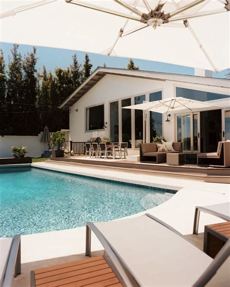 outdoor living spaces with pool swimming pools photos design ideas remodel and decor