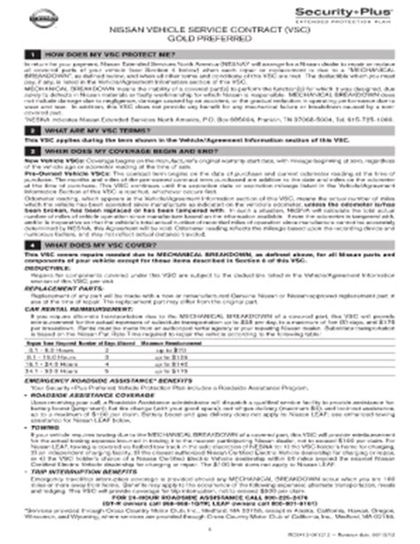 nissan extended services america extended warranty nissan form fill printable