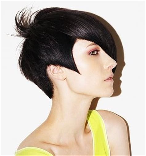 women shoert hair various sideburns beautiful head hugging short cut with pointed sideburns