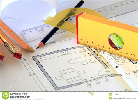 free architecture drawing tool architectural drawings and tools royalty free stock photo