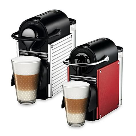 nespresso pixie bundle nespresso 174 pixie espresso machine and aeroccino plus bundle bedbathandbeyond