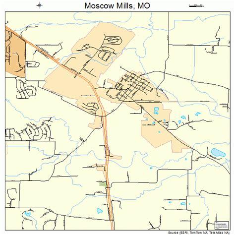 Moscow Mills Missouri Street Map 2950204