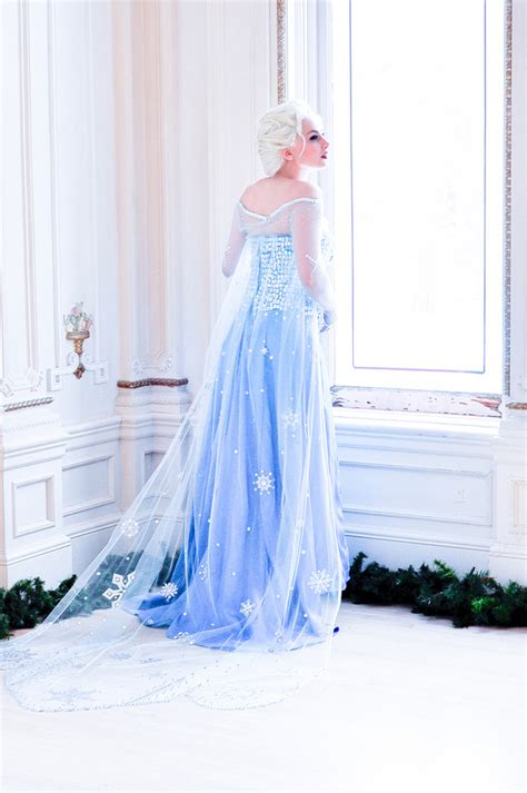 Real Picture No Edit Kostum Elsa Frozen Dress Baju Pesta Import Gaun 2 amazing frozen photoshoot is almost as as the real thing all to me
