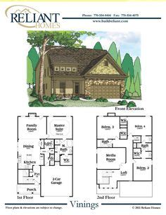 reliant homes the waverly plan floor plans homes