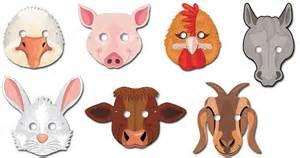 farm animal mask templates best photos of animal masks woodland animals