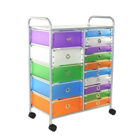 15 drawer organizer cart 4d concepts 15 drawer metal rolling storage cart in