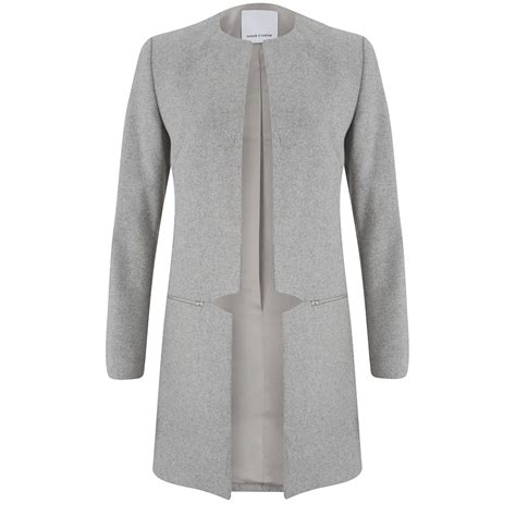 light grey denim jacket samsoe samsoe women s hahn jacket light grey melange