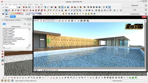 tutorial sketchup kolam renang e architecture and design
