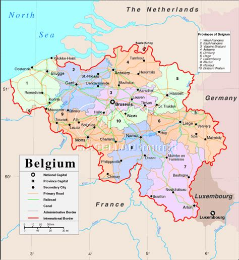 map of europe belgium