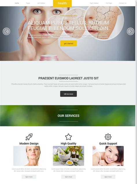 Herbal Products Website Templates Free Download Choice Image Free Templates Ideas Supplement Website Template
