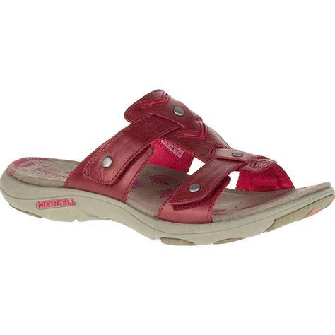womens sandals slide merrell s adhera slide sandals cranberry