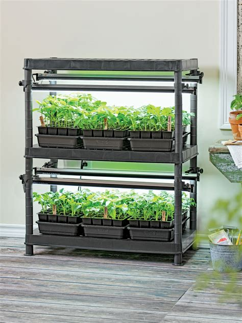 stack  grow light system exclusively  gardeners supply