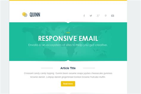 40 Best Responsive Email Newsletter Templates Flashuser Flash Email Templates