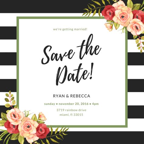 make save the date cards free make your own save the date cards canva