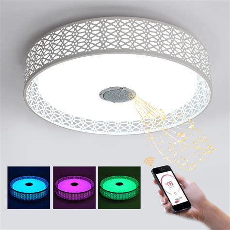 led lights that change color with music blue time 36w rgb music l chandelier led with bluetooth