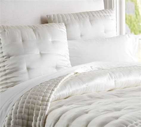 Quilted Bedding by Silk Tufted Quilt Shams Pottery Barn