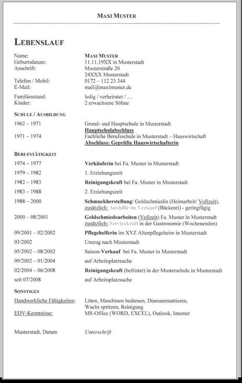 Vorlage Lebenslauf Tabellarisch Lebenslauf Tabellarisch Muster Word Kostenlose Anwendung Die Vorlage Zu Studieren