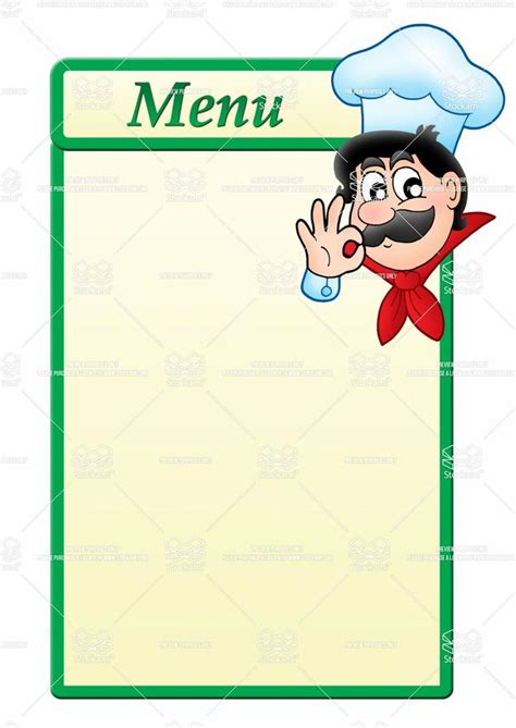 menu with pictures template stock image menu template with chef jpg 1 061