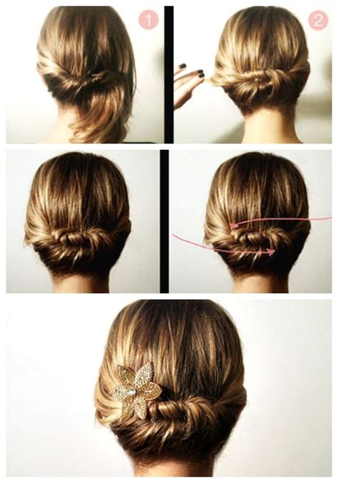 easy updos for medium hair with directions simple elegant updos for long hair hair style and color