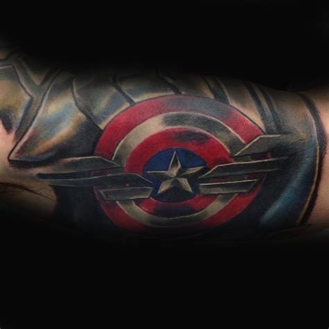 captain america shield tattoo captain america tattoos for the arm 70 captain america