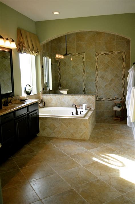 master baths with walk in showers beautiful master bath walk in shower with tile galore david weekley homes model willowcove