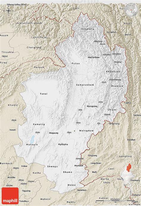 classic maps classic style 3d map of kachin