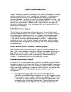process narrative template risk assessment process narrative hashdoc
