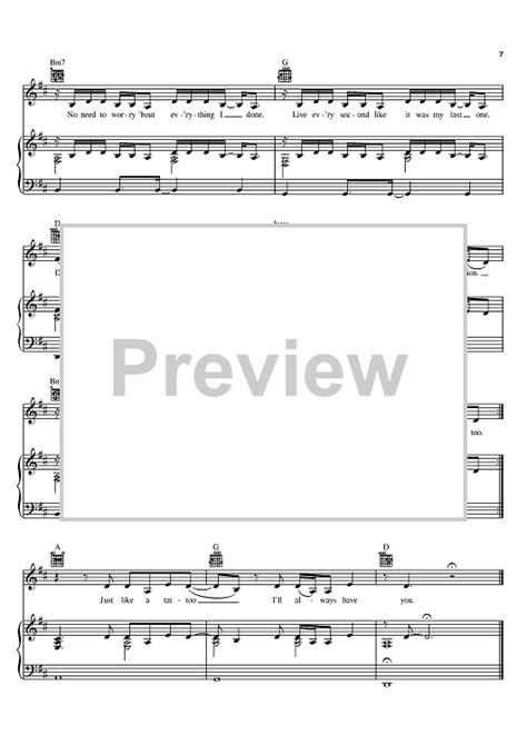 tattoo jordin sparks piano tutorial tattoo sheet music music for piano and more