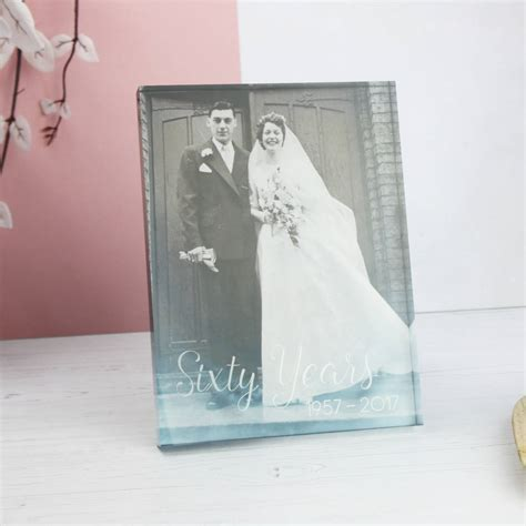 anniversary acrylic photo block by nutmeg home & gifts