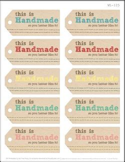 Handmade By Tags - 75 free printable labels make it handmade