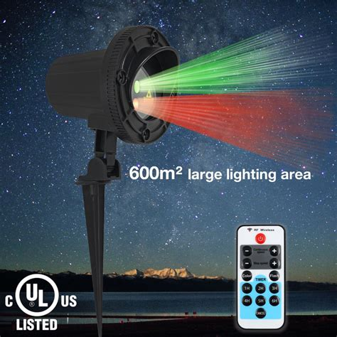 lightshow projection points of light deluxe with remote 98 programs ᗖlaser star lights projector showers christmas christmas